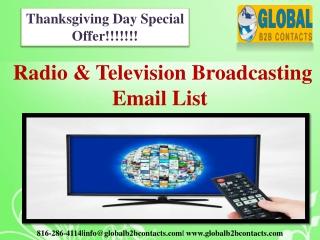 Radio & Television Broadcasting Email List