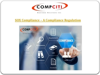 SOX Compliance – A Compliance Regulation