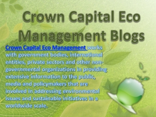 Crown Capital Eco Management Blogs