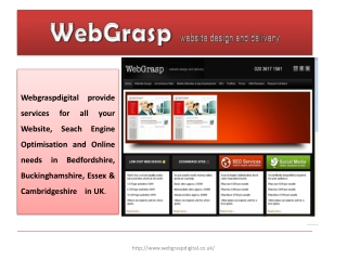WebGrasp website design and delivery