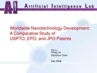 Worldwide Nanotechnology Development:  A Comparative Study of  USPTO, EPO, and JPO Patents