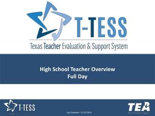 High School Teacher Overview Full Day