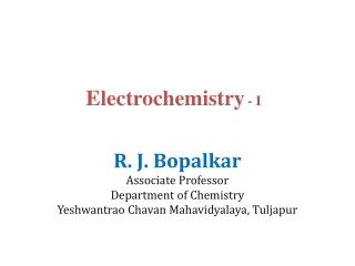 Electrochemistry - I