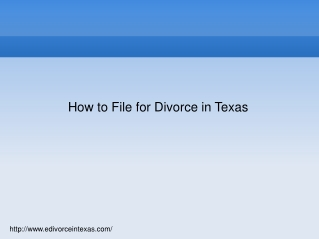 How to File for Divorce in Texas