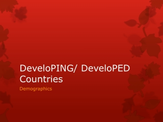 DeveloPING / DeveloPED Countries
