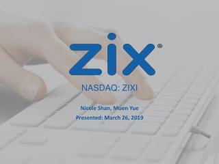 NASDAQ: ZIXI