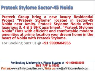 3 BHK apartment prateek project noida    09999684955