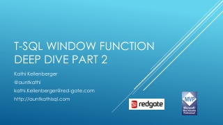 T-SQL Window function deep dive part 2
