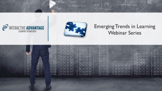 Emerging Trends in Learning Webinar Series