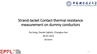 Strand-Jacket Contact thermal resistance measurement on dummy conductors