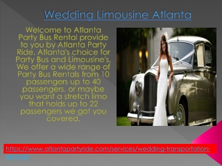Best Wedding Limousine Atlanta Party Ride