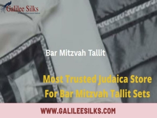 Most Trusted Judaica Store For Bar Mitzvah Tallit Sets
