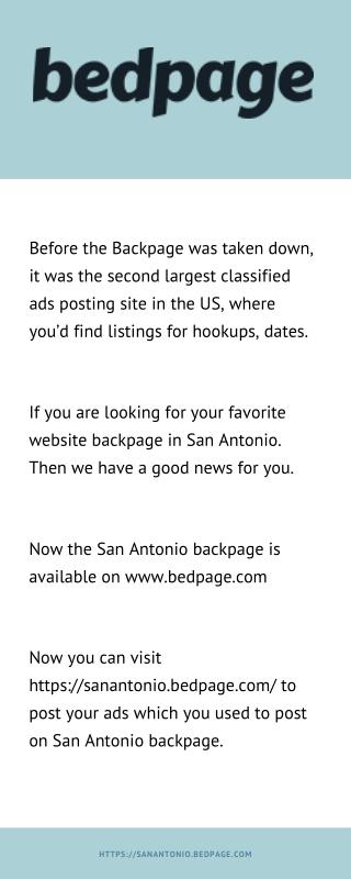 Backpage San Antonio