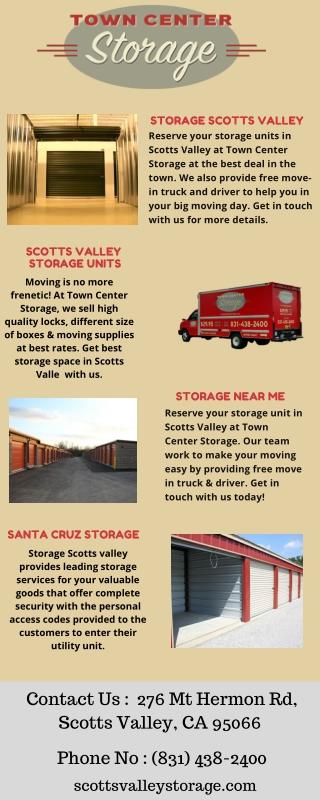 Storage Space Scotts Valley Town Center Storage