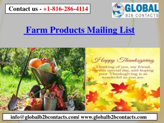 Farm Products Mailing List