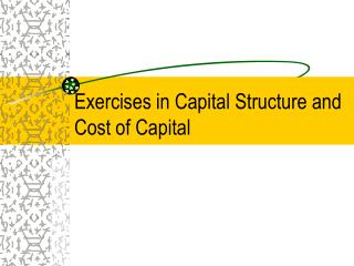 Exercises in Capital Structure and Cost of Capital