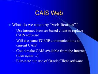 CAIS Web