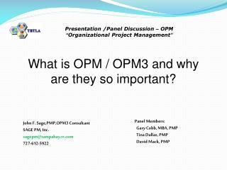 What is OPM