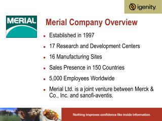 Merial Company Overview