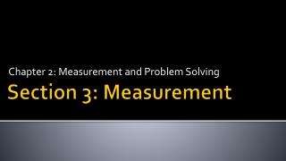 Section 3: Measurement
