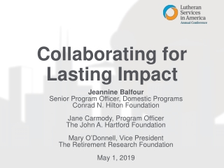 Collaborating for Lasting Impact