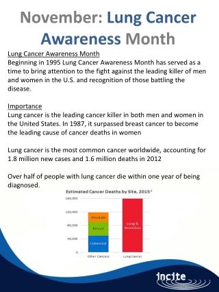 November: Lung Cancer Awareness Month Lung Cancer Awareness Month