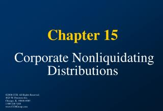Chapter 15 Corporate Nonliquidating Distributions