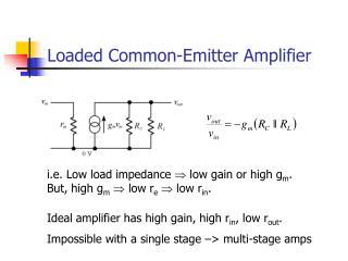 Loaded Common-Emitter Amplifier