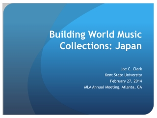 Building World Music Collections: Japan
