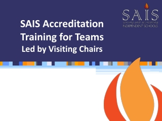 SAIS Accreditation Training for Teams Led by Visiting Chairs