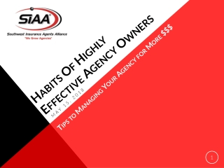 Habits Of Highly Effective Agency Owners
