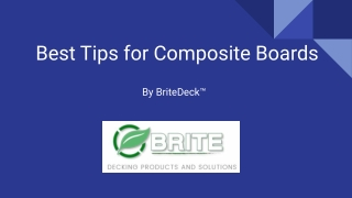 Best Tips for Composite Boards