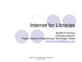 Internet for Libraries