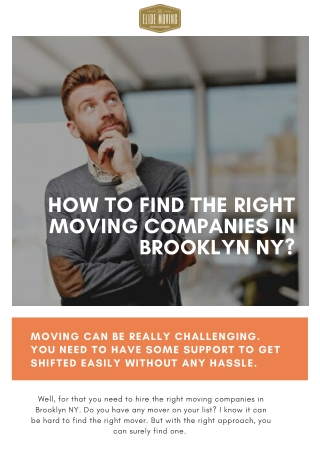 How to Find the Right Moving Companies in Brooklyn NY?