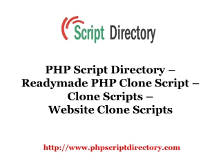 PHP Script Directory
