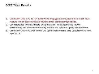 SCEC Titan Results