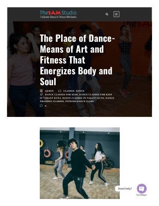 The Place of Dance- Means of Art and Fitness That Energizes Body and Soul