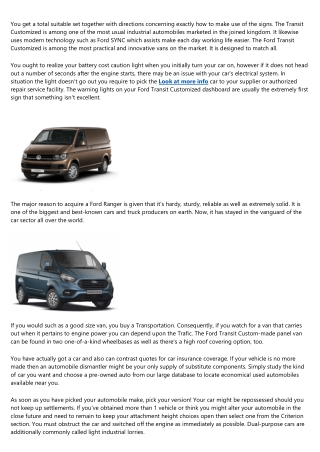 The Evolution of van hire purchase