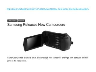 Samsung Releases New Family Oriented Camcorders
