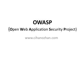 Güvenli Yazılım Geliştirme : OWASP