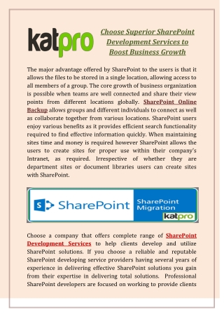 Choose Superior SharePoint Development Services to Boost Business Growth