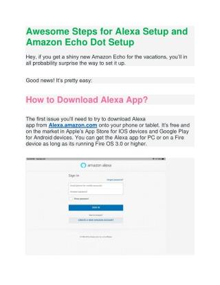 Follow the Steps for Alexa Setup and Amazon Echo Dot Setup