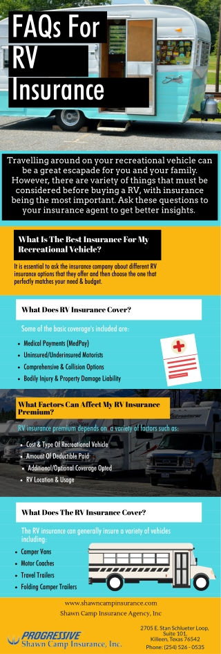 FAQs For RV Insurance