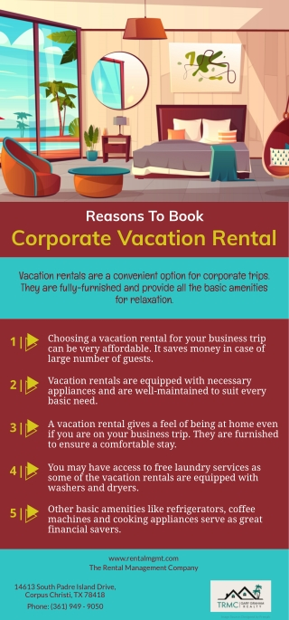 Reasons To Book Corporate Vacation Rental