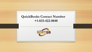 Effectuate QuickBooks Support Phone Number 1-833-422-8848 for error-free accounting