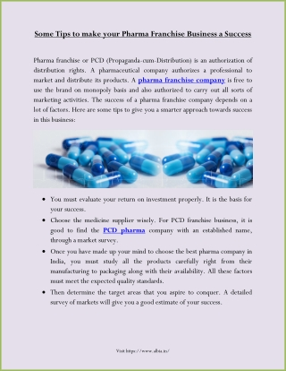Some Tips to make your Pharma Franchise Business a Success