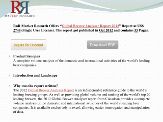 World Brewer and Beer Market Analyser Report 2012