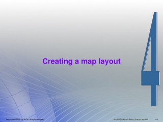 Creating a map layout