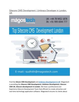 Sitecore CMS Development | Umbraco Developer in London, UK