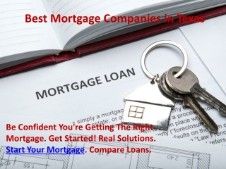 Best Mortgage Companies in Texas